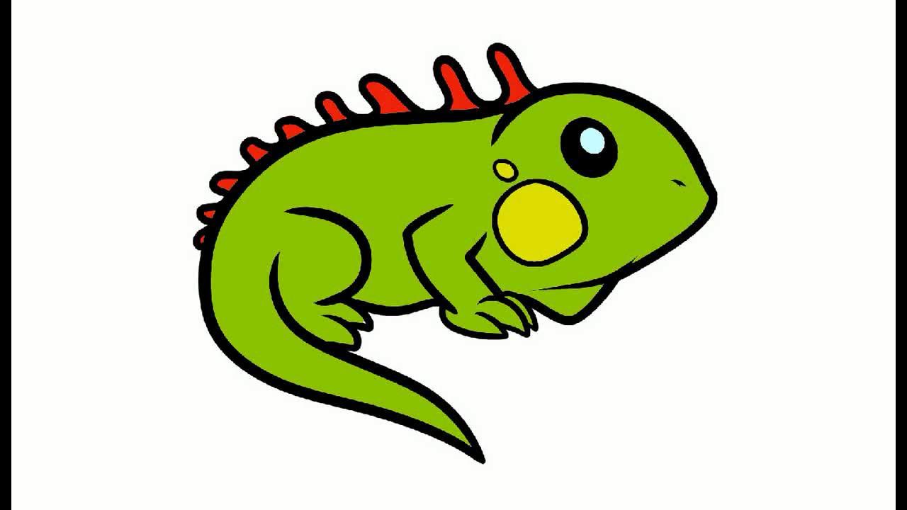Как нарисовать Игуану. Раскраска Игуана для детей - YouTube