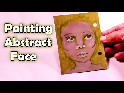 How to paint a face –  Abstract art – Painting an abstract face – by AyalaArt