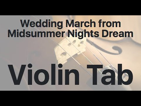 Learn Wedding March From Midsummer Nights Dream On Violin - How To Play Tutorial
