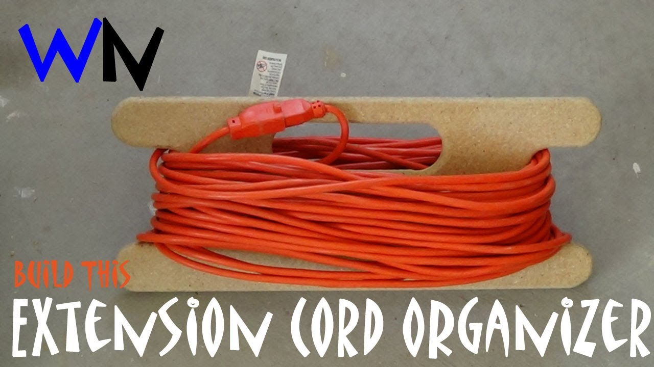 How To Make An Extension Cord Organizer Aka The Cord