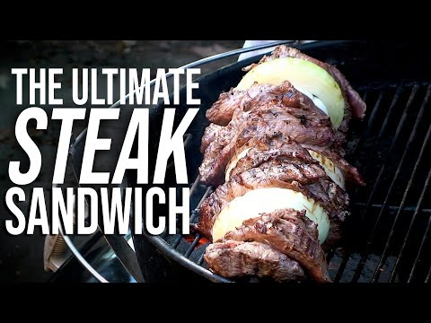Grilled Steak Sandwich recipe by the BBQ Pit Boys - YouTube