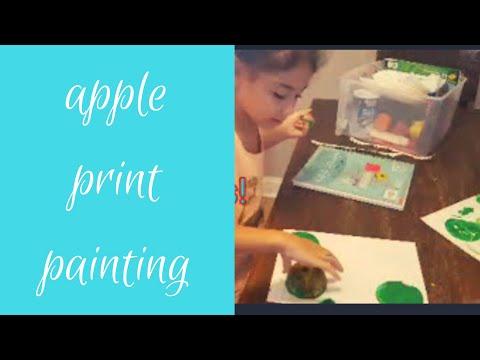 APPLE PRINT PAINTINGS|Fun kids crafts