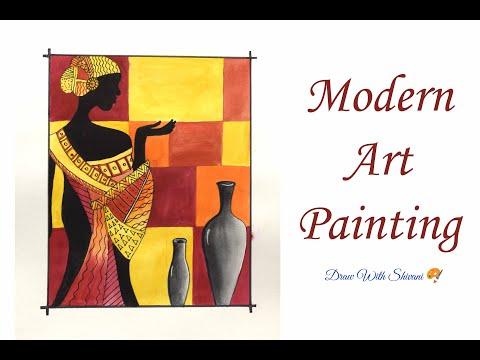 Modern Art Painting/ Tribal Lady Drawing