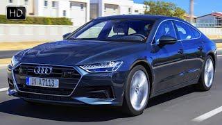 2019 Audi A7 Sportback Sedan Triton Blue Design Overview & Driving Footage HD