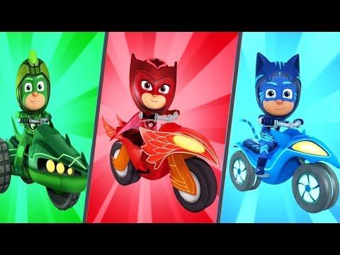 PJ Masks Games | PJ Masks Racing Heroes Race With Catboy, Owlette, Gekko PJ ROBOT | Games For Kids