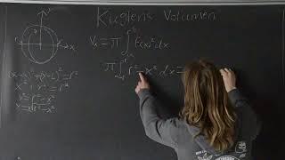 Bevis for volumen af kugle, ved rotation af cirkel om x-aksen