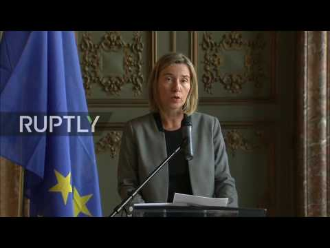 LIVE: Mogherini and De Mistura speak to press during 'Future of Syria' conference