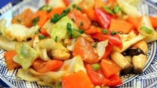 Vegetables Stir-fry - Thai Recipe - Cookingwithalia - Episode 344