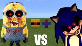 What Happens When You Spawn Sonic.exe & Minions.exe in Minecraft PE?