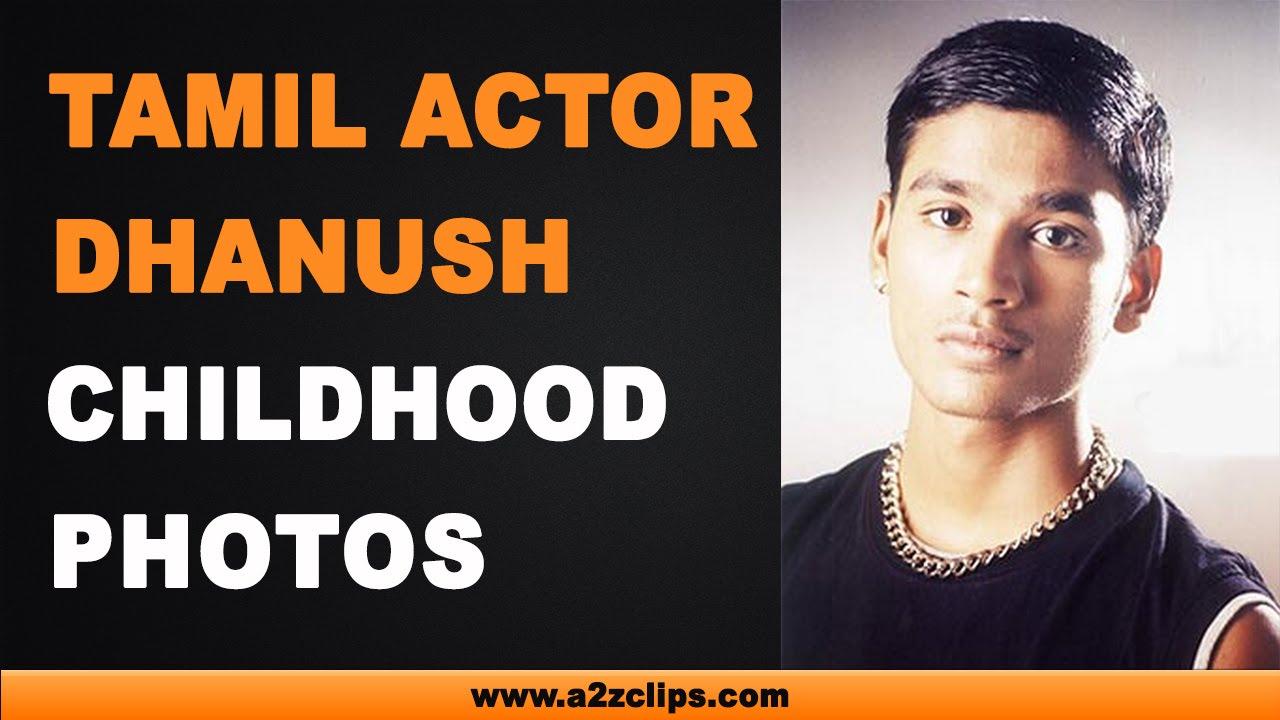 dhanush childhood photos - youtube