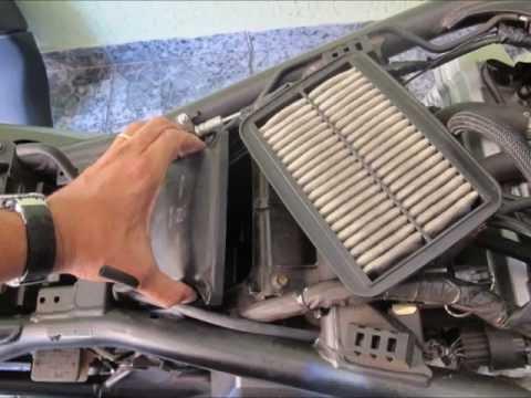 SUZUKI bandit 1250  k&n air filter DIY Install