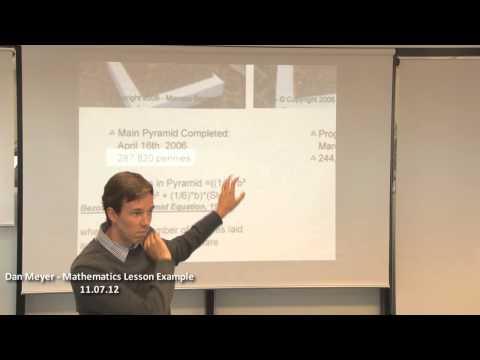 Dan Meyer - Mathematics Lesson Example 11.07.12
