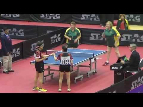 Women 39 s doubles over 75 final 2014 world veteran table - Table tennis world championship 2014 ...