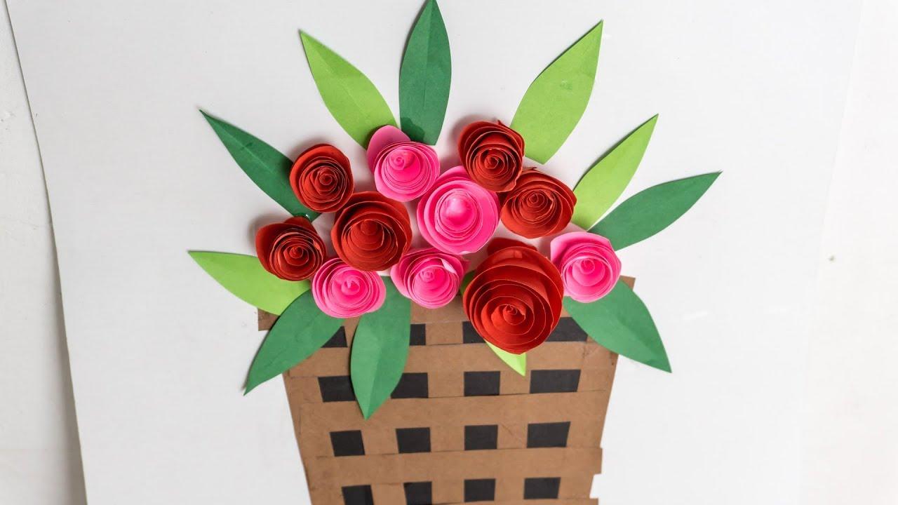Cute Diy Paper Flower Basket Make Kids Craft Ideas With Craftikids