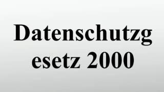 Datenschutzgesetz 2000