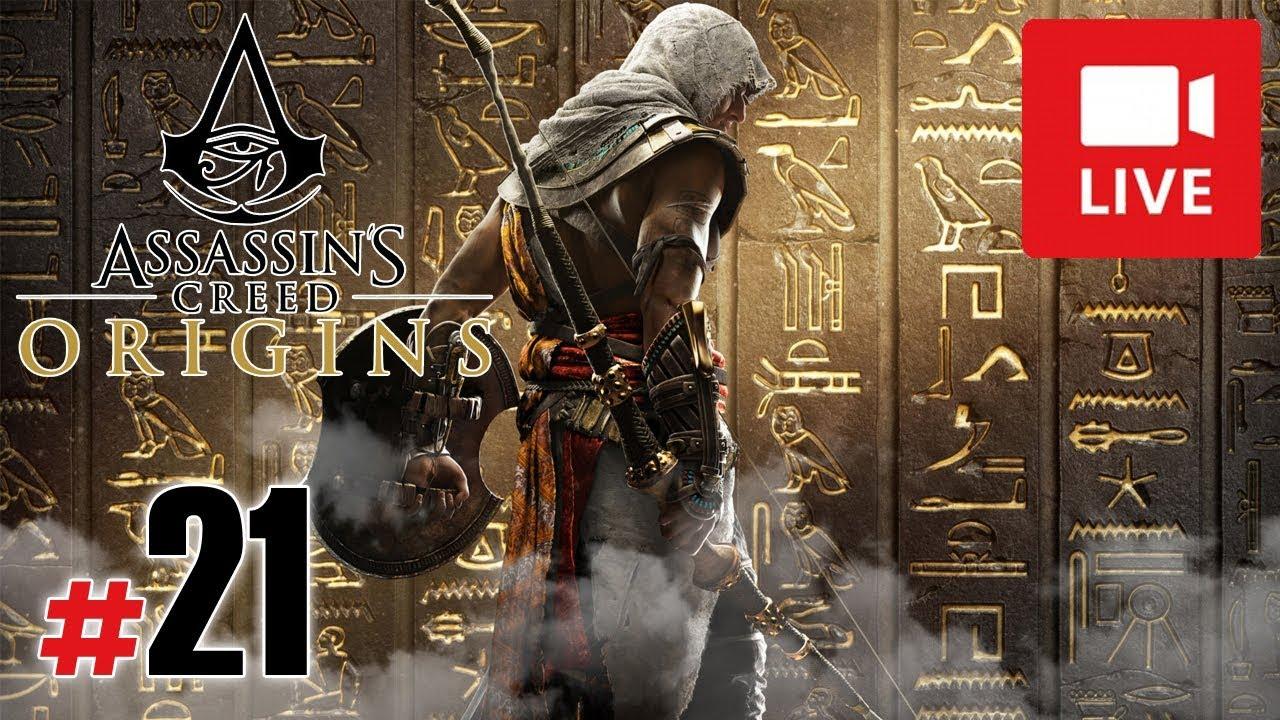"[Archiwum] Live – Assassin's Creed Origins! (9) – [1/3] – ""Penetrowanie piramid"""