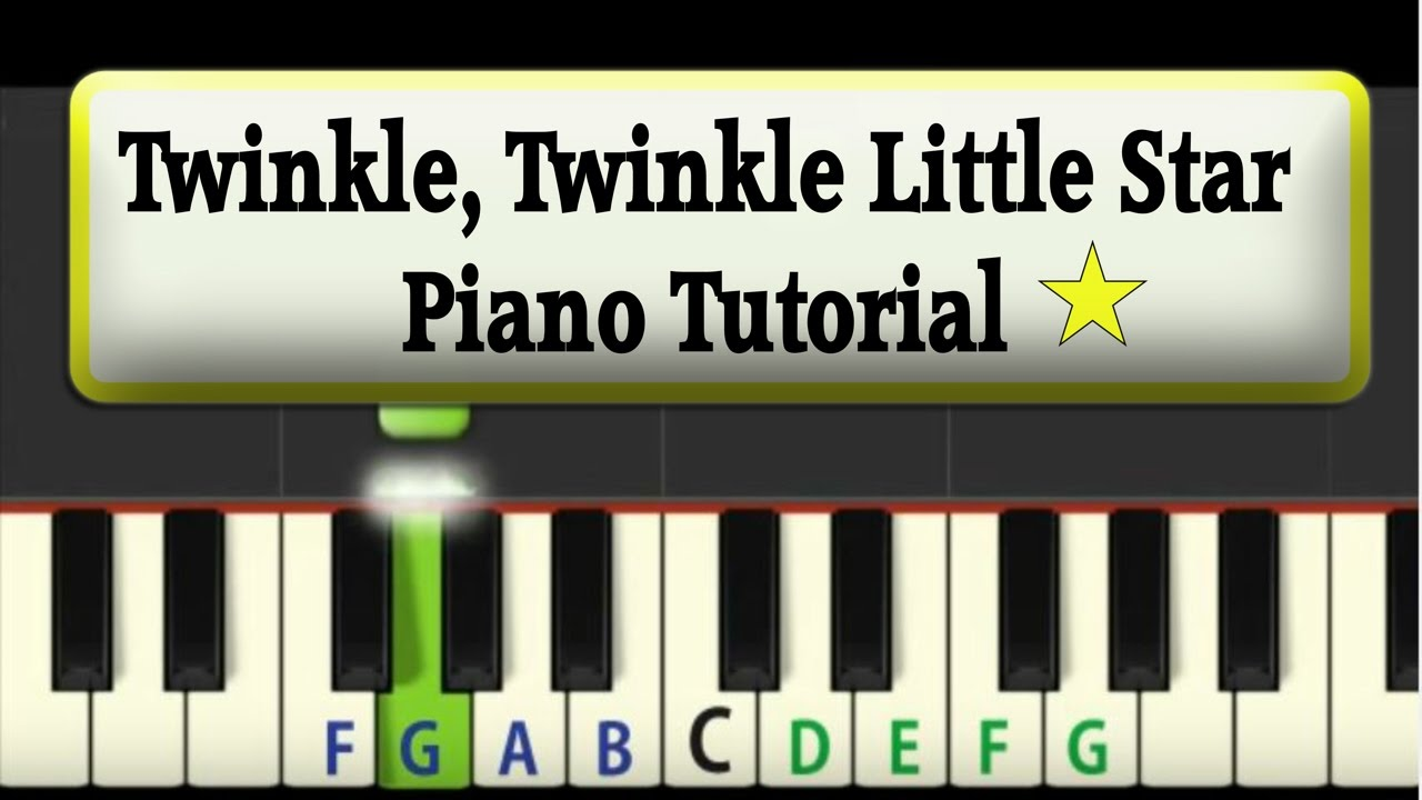 easy piano tutorial twinkle twinkle little star youtube