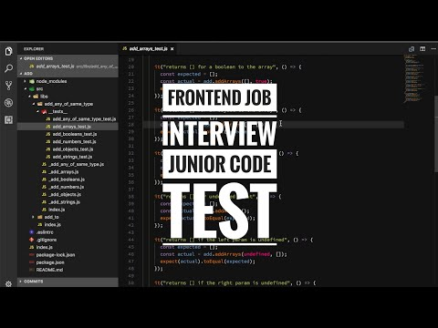 Frontend job interview - Junior code test