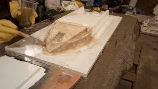 карповый кораблик своими руками / часть8 Выклейка матрицы корпуса верха