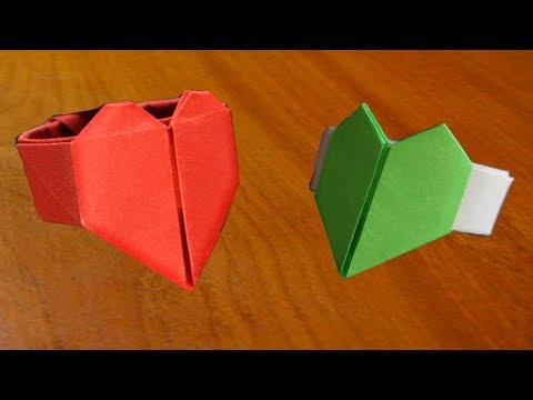 How To Make a Origami Paper Heart Ring for Your Valentine's day Gift - Secret PaperArt