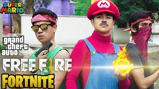 SUPER MARIO BROS EN FREE FIRE, FORTNITE Y GTAV! - Changovision