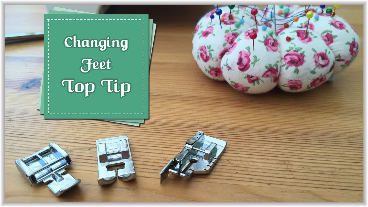 Changing Your Sewing Machine Feet