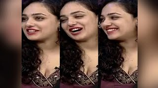 Nitya menon hot cleavage show