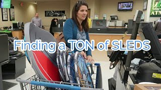 Large family Momma finds SLEDS on First Day of Spring thumbnail