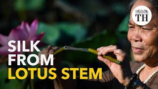 Lotus silk: a luxury fabric out of lotus stem