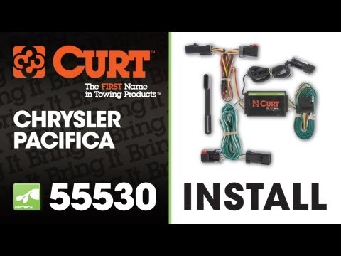 trailer wiring install curt 55530 on a chrysler pacifica youtube rh youtube com  2017 chrysler pacifica trailer wiring