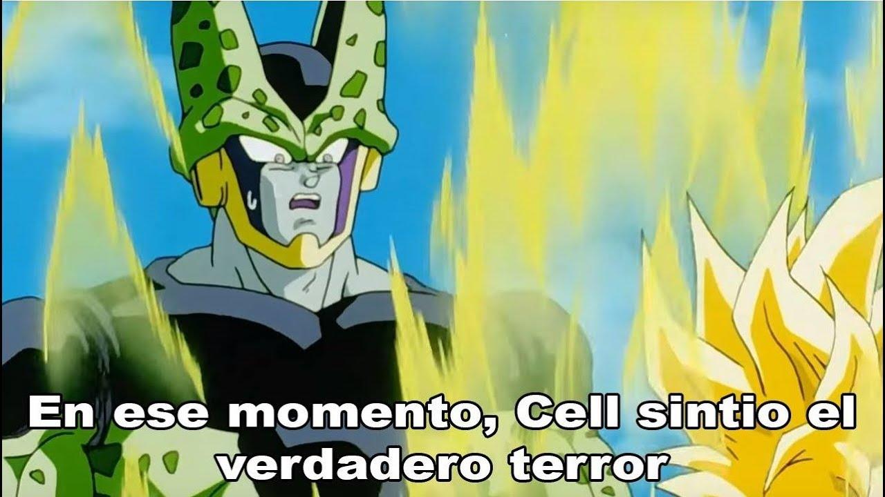 en ese momento cell sintio el verdadero terror meme