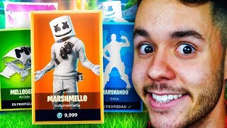 MY REACTION TO THE SKIN OF MARSHMELLO IN FORTNITE - TheGrefg
