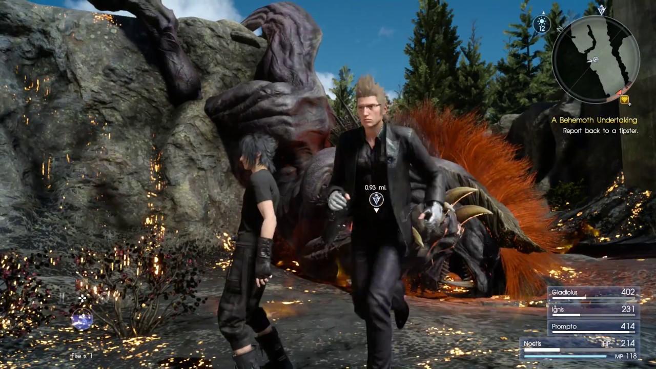Final Fantasy XV - A Behemoth Undertaking Hunt - YouTube Behemoth Final Fantasy 15