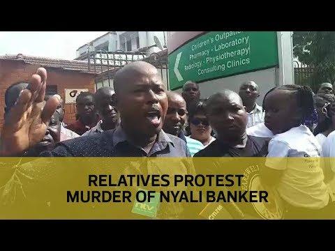 Relatives protest murder of Nyali banker