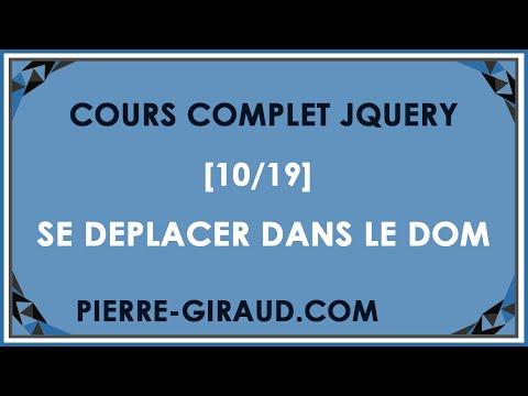 COURS COMPLET JQUERY [10/19] - Se déplacer dans le DOM en jQuery