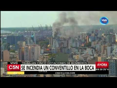 C5N - Sociedad: Se incendia un conventillo en La Boca
