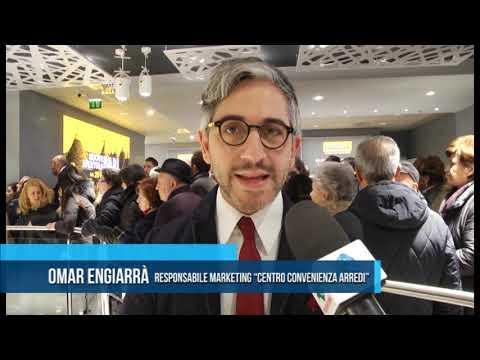 Bari inaugurazione centro convenienza arredi tg for Centro convenienza arredi