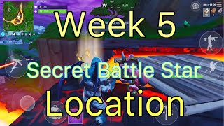 Semaine 5 Secret Battle Star- Exact Location - Saison 8 - Fortnite Battle Royal - Jason Mc