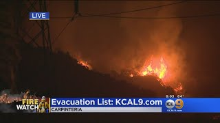 As Thomas Fire Heads West More Evacuations Ordered