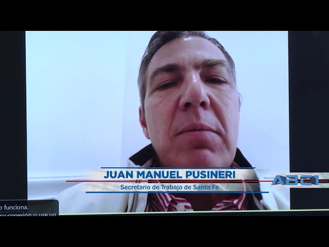 (Adelanto) Juan Manuel Pusineri, secretario de Trabajo de la provincia de Santa Fe - ABC1 09 08 20