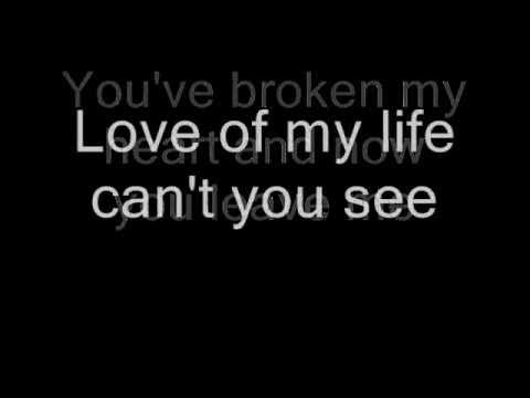 queen love of my life lyrics youtube