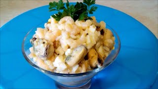 Рецепт салата Салат с морепродуктов  Салат Море