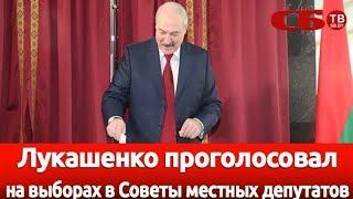 Лукашенко проголосовал на выборах в Советы местных депутатов