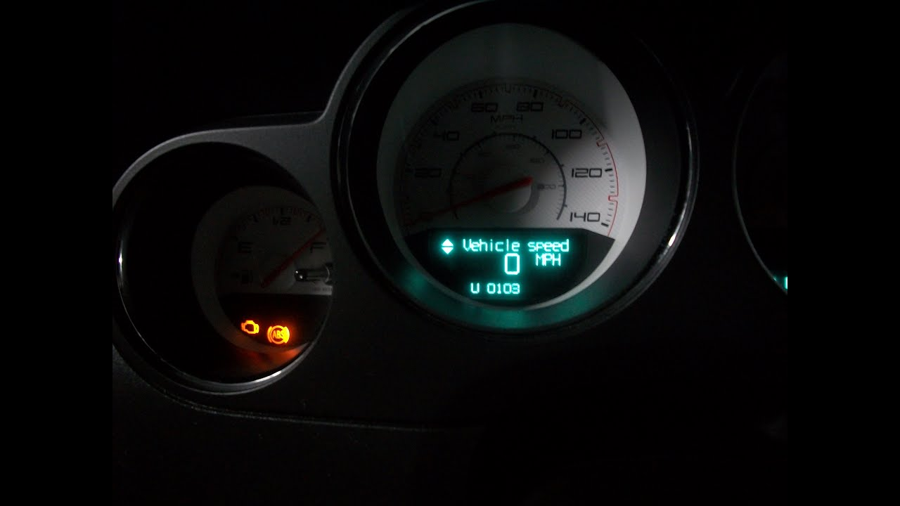 Read Check Engine Light CEL codes without a scanner 2012 Dodge Challenger - YouTube