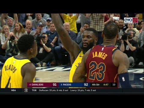 Lance Stephenson Forces Jump Ball from LeBron  Cavs vs Pacers  Game 4  2018 NBA Playoffs