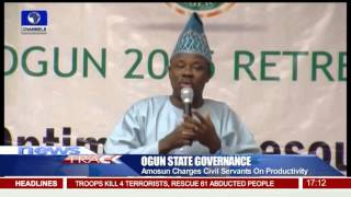 Governor Amosun Tasks Civil Servants On Productivity -- 13/11/15