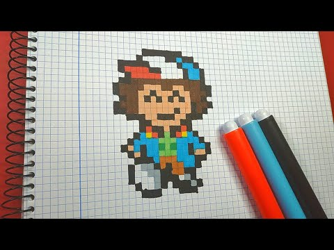Como Dibujar a DUSTIN de STRANGER THINGS | Pixel Art Tutorial thumbnail
