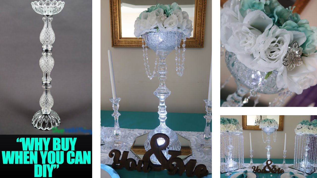 Diy Candle And Floral Holder Glass Centerpiece Riser