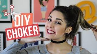 Como fazer Choker - Faça os seus baratinhos e personalizados  - DIY | Mariana Emerim