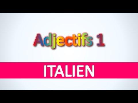 Italien   Adjectifs 1 - Apprendre vocabulaire italien pour débutants